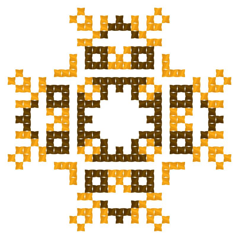 Текстовий слов'янський орнамент: Шоколад