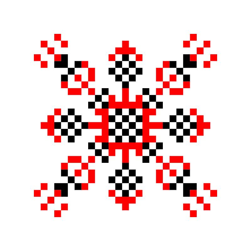 Текстовий слов'янський орнамент: тезикова