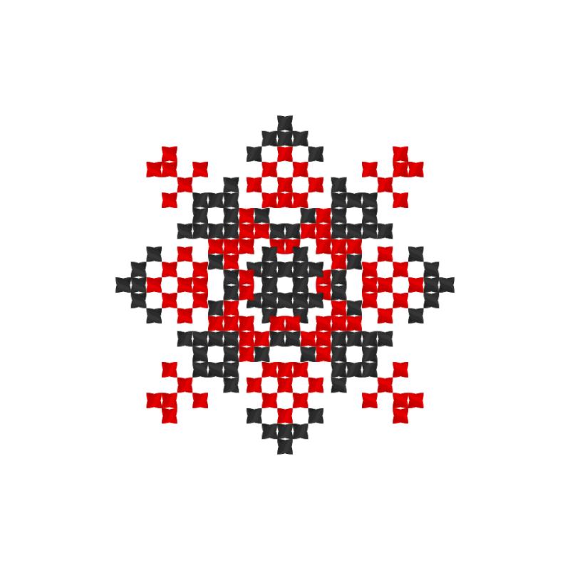 Текстовий слов'янський орнамент: Домініка
