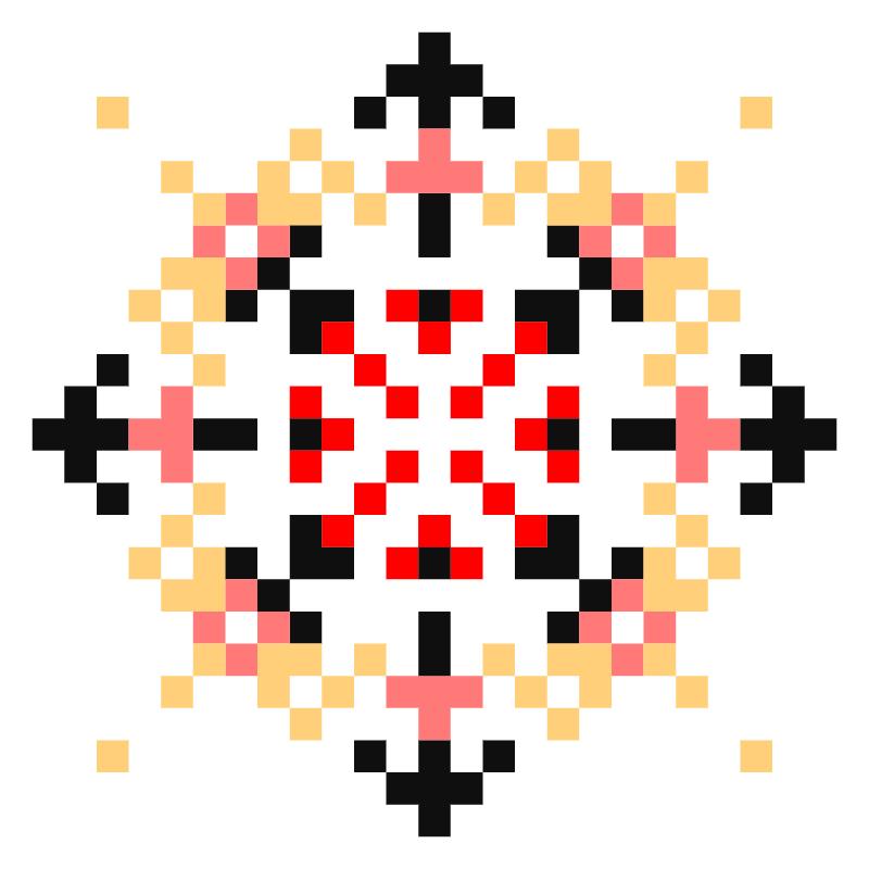 Текстовий слов'янський орнамент: вiкторiя