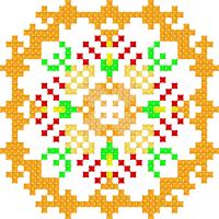 Текстовый украинский орнамент: горицвiт