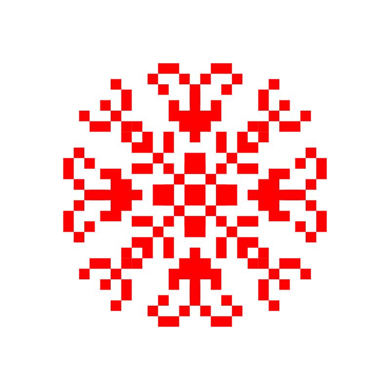 Текстовий слов'янський орнамент: Подільські барви