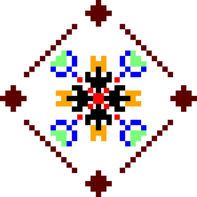 Текстовий слов'янський орнамент: Ірина
