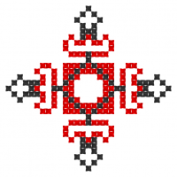 Текстовый украинский орнамент: Імя Руслана