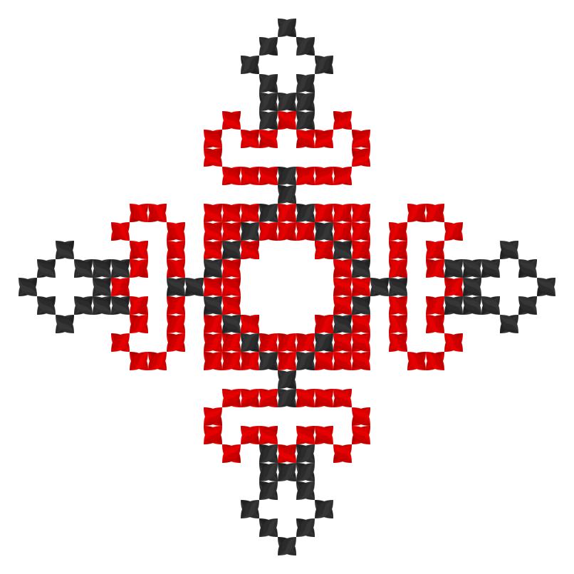 Текстовий слов'янський орнамент: Імя Руслана