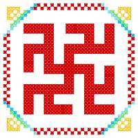 Текстовый украинский орнамент: одолень - трава