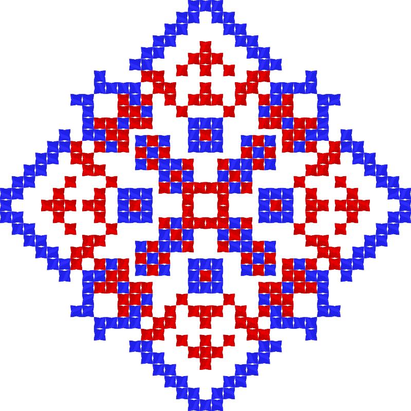Текстовий слов'янський орнамент: Кохання