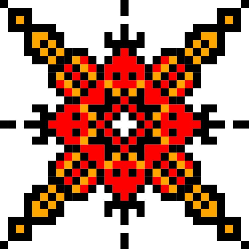 Текстовий слов'янський орнамент: Травень (Май)