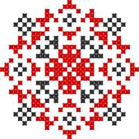 Текстовый украинский орнамент: Козак Мамай