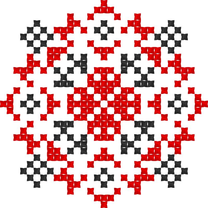 Текстовий слов'янський орнамент: Козак Мамай