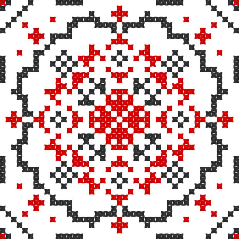 Текстовий слов'янський орнамент: Козак Мамай (3)