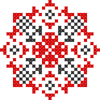 Текстовый украинский орнамент: Козак Мамай (2)