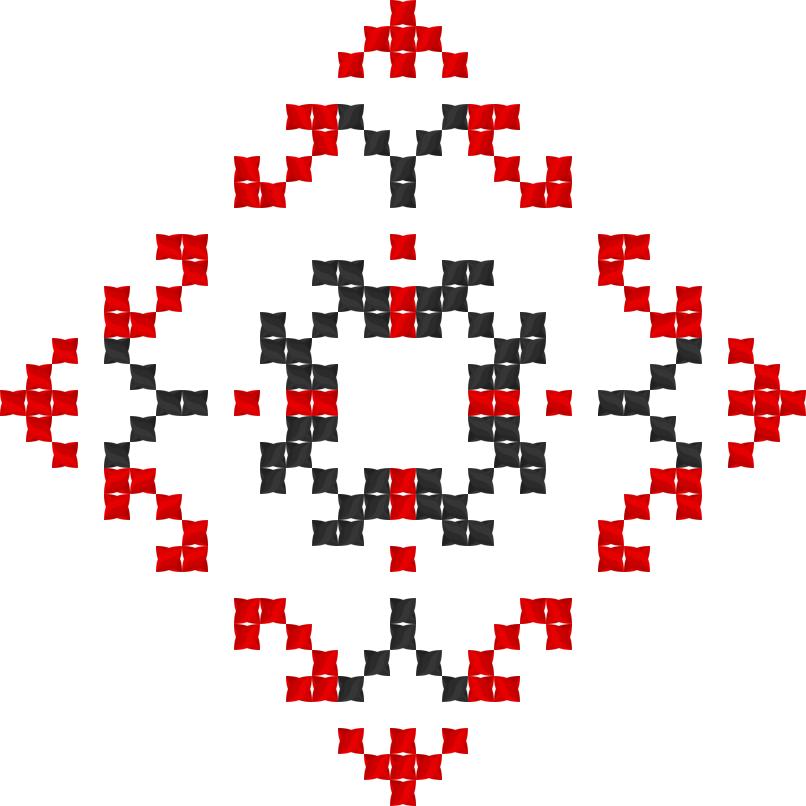 Текстовий слов'янський орнамент: Інуся