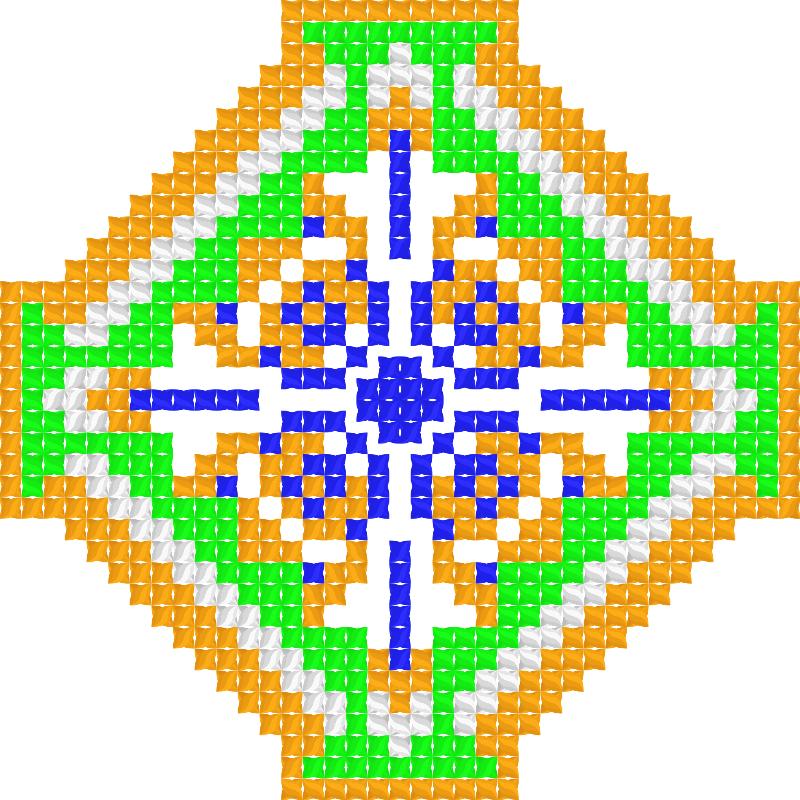 Текстовий слов'янський орнамент: Iндiя