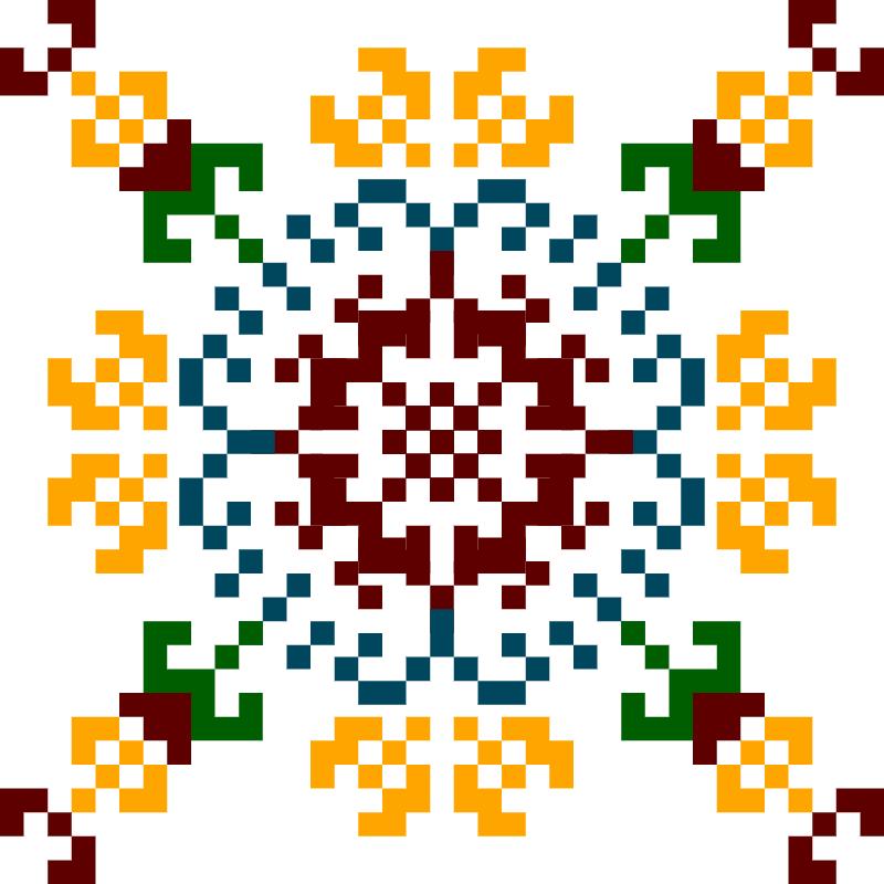 Текстовий слов'янський орнамент: JoMa