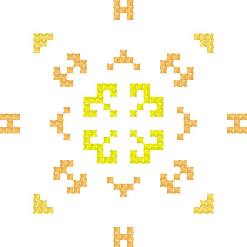 Текстовий слов'янський орнамент: Банан