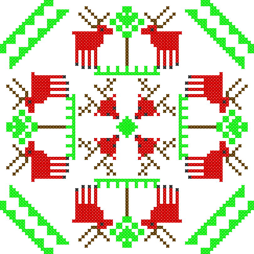 Текстовий слов'янський орнамент: олень