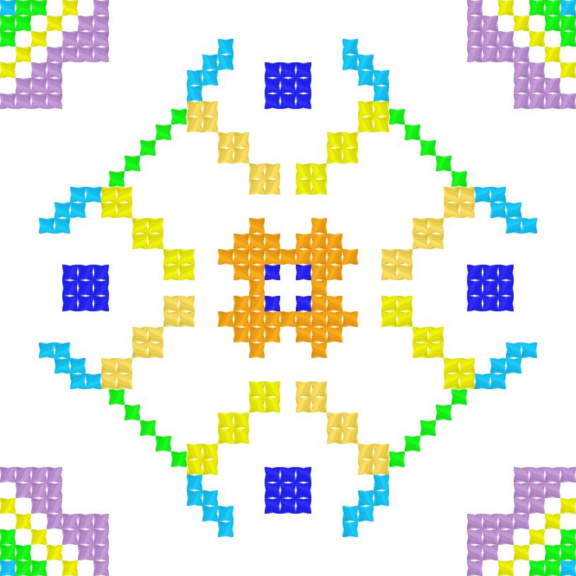 Текстовий слов'янський орнамент: сетка