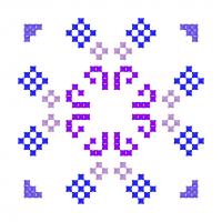 Текстовый украинский орнамент: роза