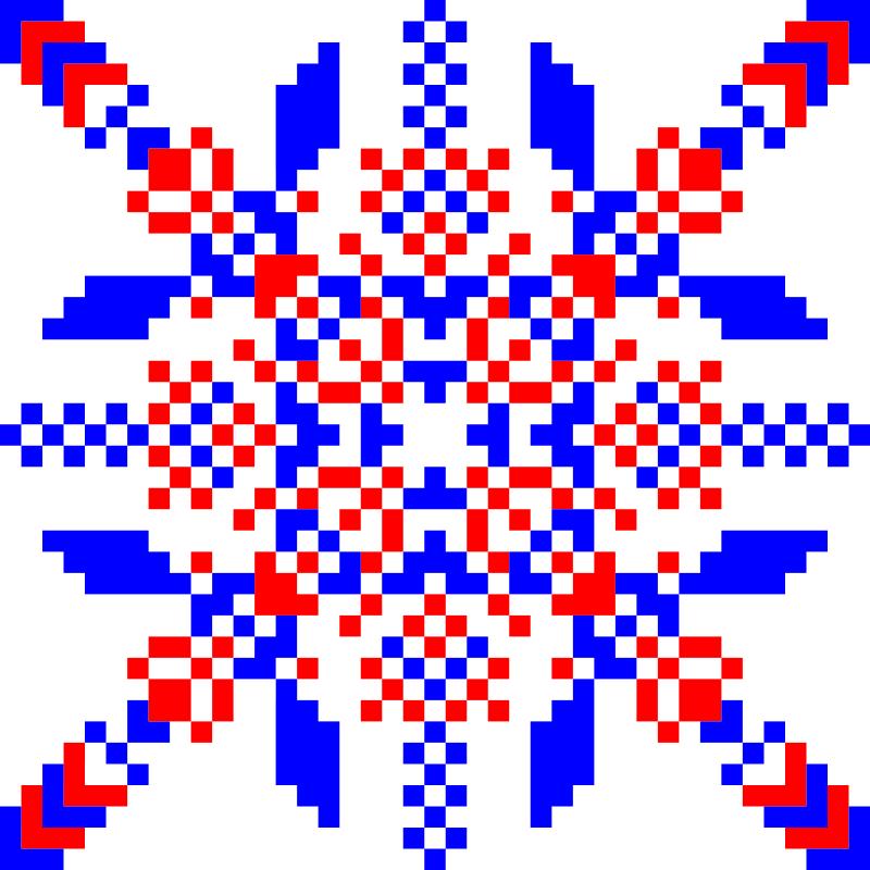 Текстовий слов'янський орнамент: Тисячолітній сокіл
