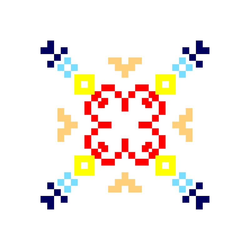 Текстовий слов'янський орнамент: Бочок