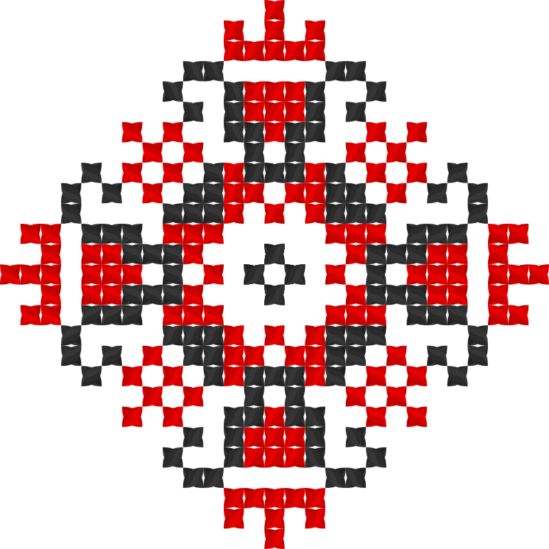 Текстовий слов'янський орнамент: Перемога
