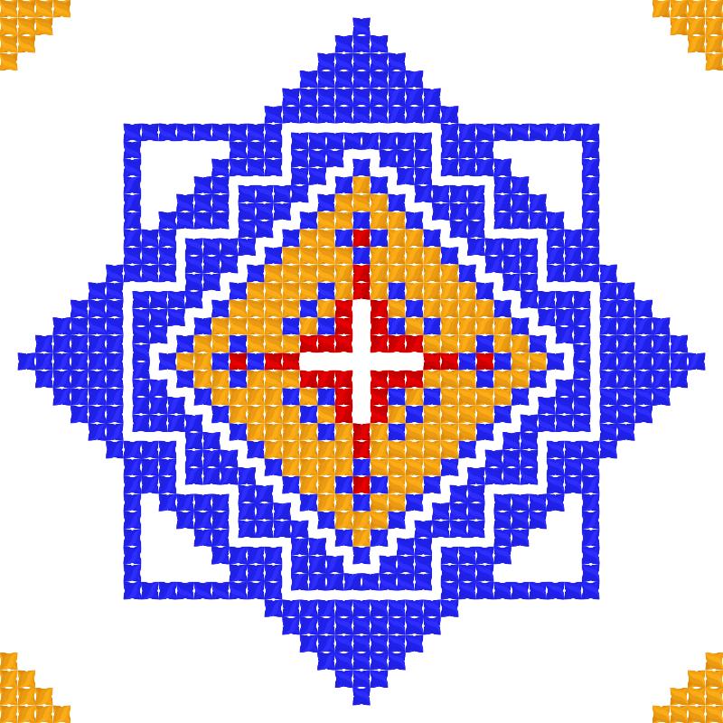 Текстовий слов'янський орнамент: Лiто