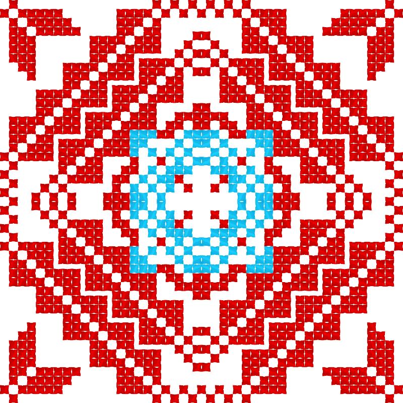 Текстовий слов'янський орнамент: Мрiя