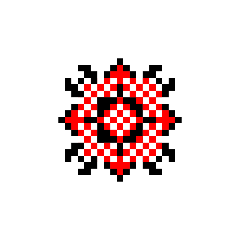 Текстовий слов'янський орнамент: пуп