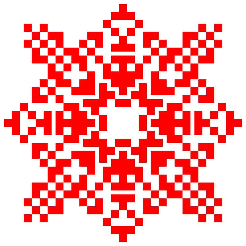 Текстовий слов'янський орнамент: MineCraft