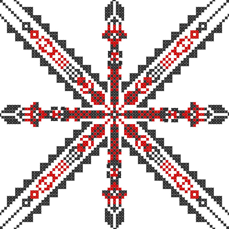 Текстовий слов'янський орнамент: Війна ніколи не змінюється