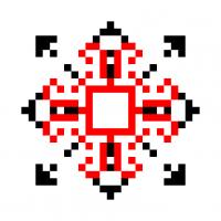 Текстовый украинский орнамент: Кіра