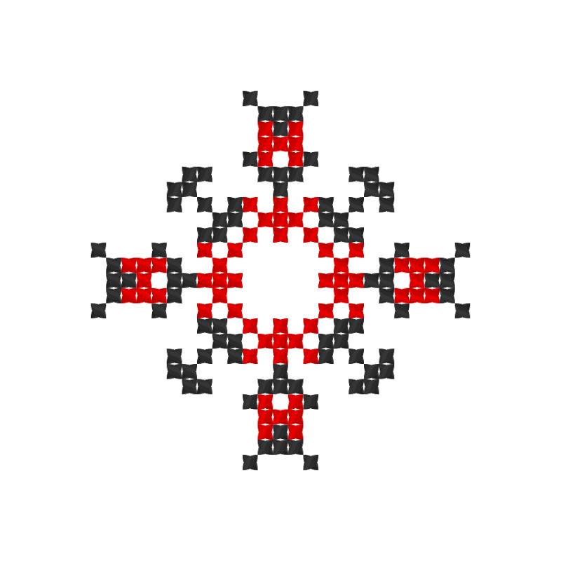 Текстовий слов'янський орнамент: Моє імя Жанна