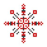 Текстовый украинский орнамент: Вікторія