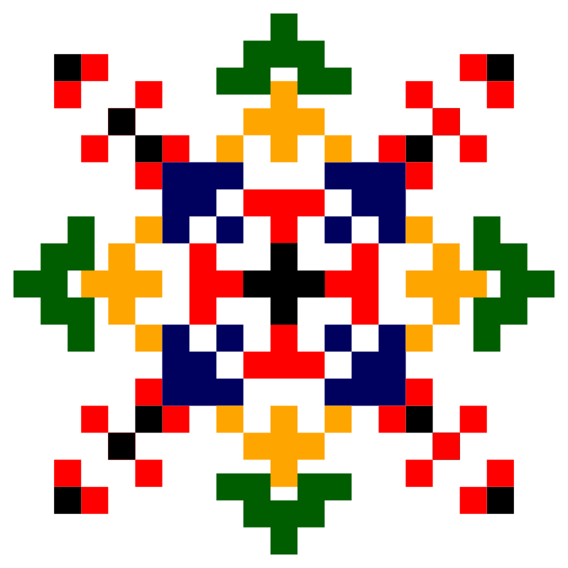 Текстовий слов'янський орнамент: Тячів