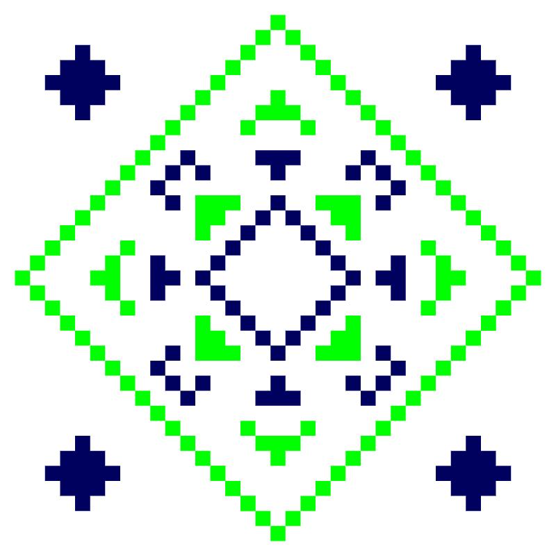 Текстовий слов'янський орнамент: Лапта