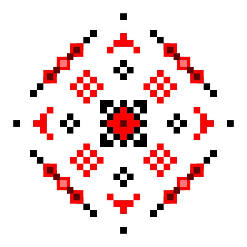 Текстовий слов'янський орнамент: Zora