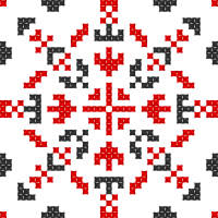 Текстовый украинский орнамент: Вчителька