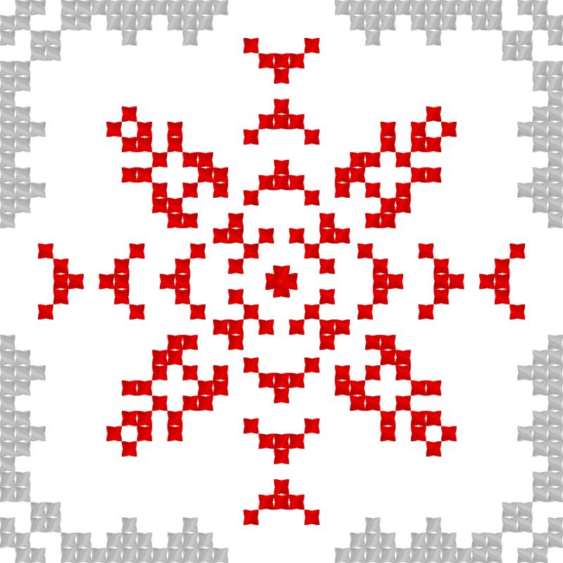 Текстовий слов'янський орнамент: Канада