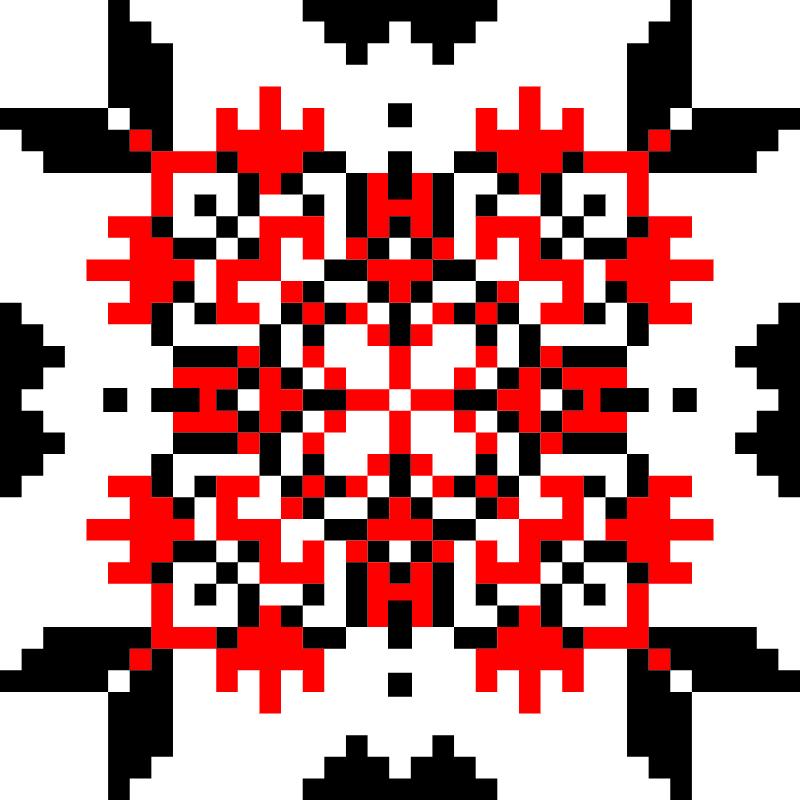 Текстовий слов'янський орнамент: бабусині руки