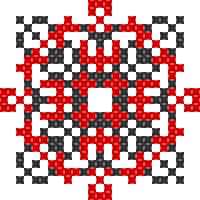 Текстовый украинский орнамент: хай щастить