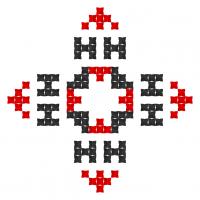 Текстовый украинский орнамент: Таня