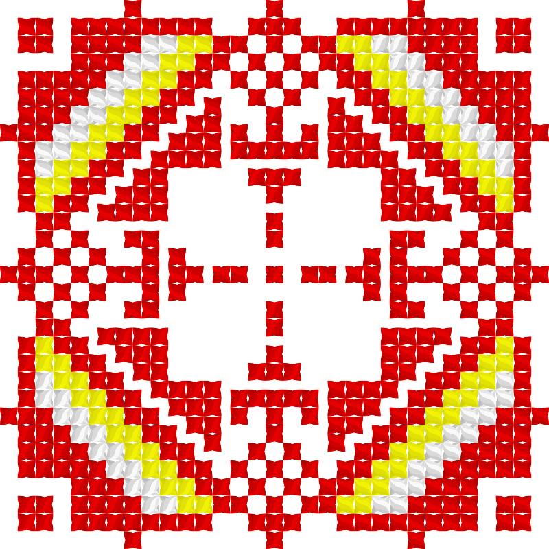 Текстовий слов'янський орнамент: Осетiя