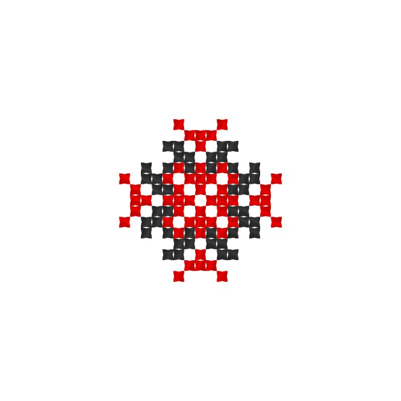 Текстовий слов'янський орнамент: Yana