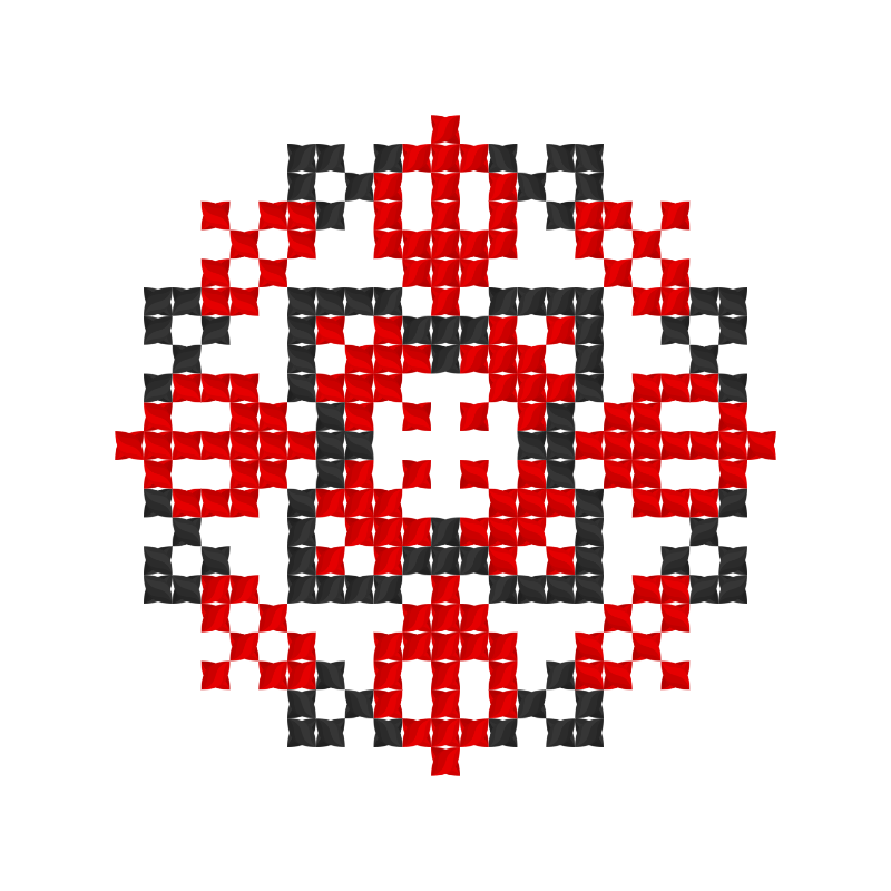 Текстовий слов'янський орнамент: ГЛАФИРА