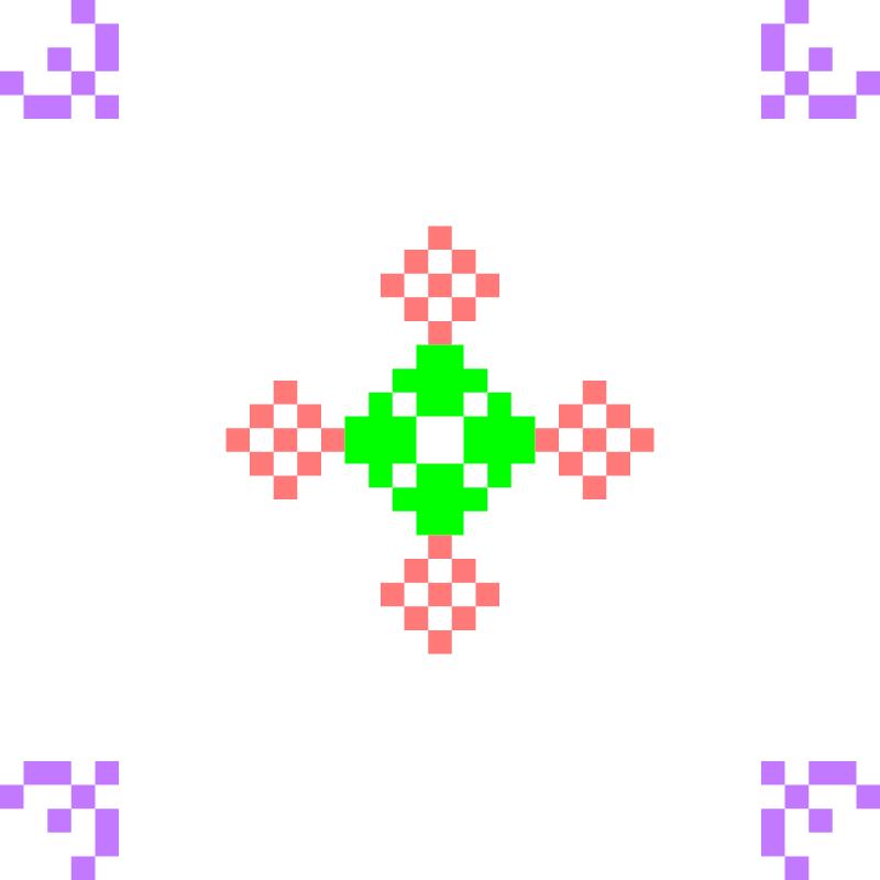 Текстовий слов'янський орнамент: квіточка