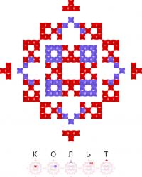 Текстовый украинский орнамент: Кольт / Brawl Stars