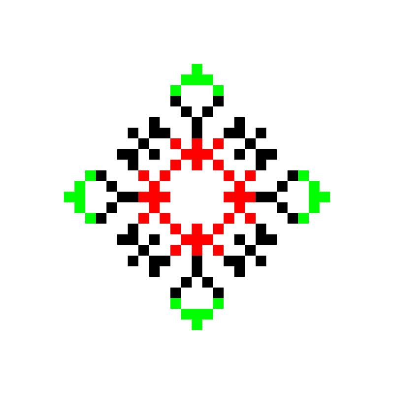 Текстовий слов'янський орнамент: жужа