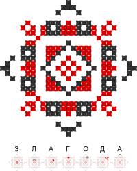 Текстовый украинский орнамент: Злагода