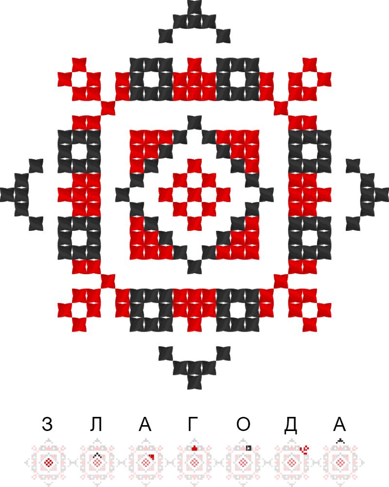 Текстовий слов'янський орнамент: Злагода